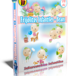 Frijolitos Infantiles – Beans. 28 imágenes vectorizadas