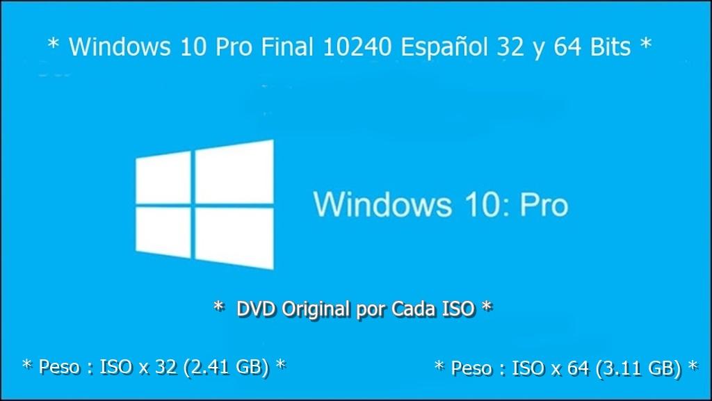 Descargar Windows 10 Pro Final (Full) (Español) (ISO) (32 y 64 Bits) (Mega)
