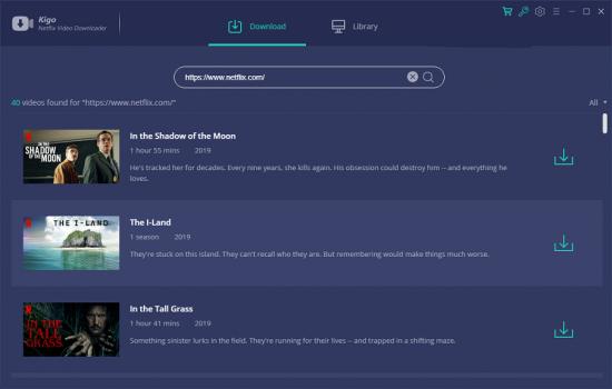 Descarga las peliculas y series de Netflix para reproducirlos fuera de línea Kigo Netflix Video Downloader 1.7.0